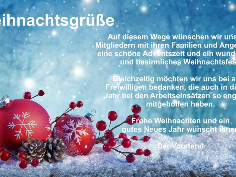Weihnachstgrüße – Merry Christmas 2020