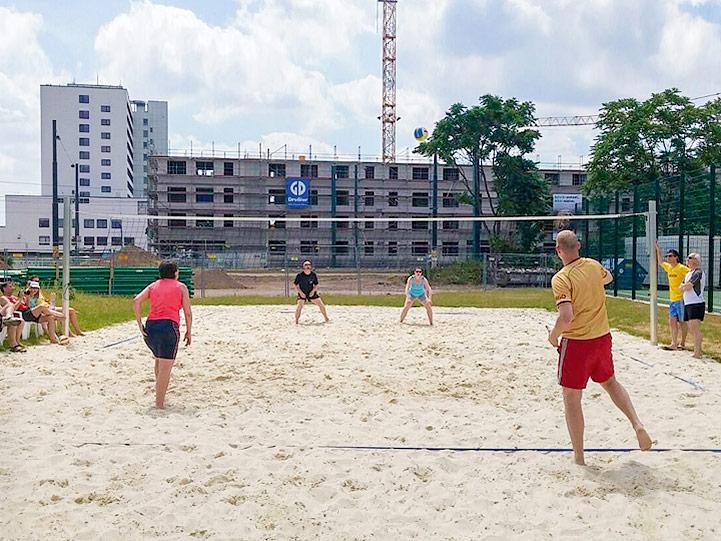 Beachvolleyball auf clubeigener Anlage